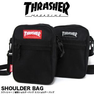 1点までメール便送料無料 THRASHER スラッシャー バッグ ショルダーバッグ 縦型ミニショルダー THRSG123|gb-int