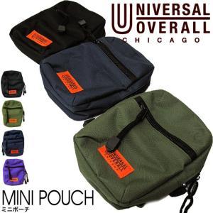 UNIVERSAL OVERALL ユニバーサル オーバーオール MINI POUCH UV042SB ミニポーチ カラビナ付き (メール便対応)|gb-int