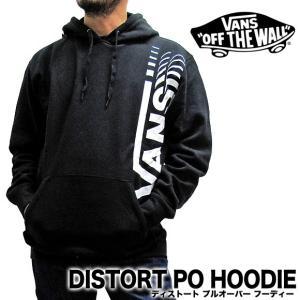 VANS バンズ ヴァンズ プルオーバーパーカー ロゴ メンズ ディストート DISTORT PO HOODY VN0A3HWVBLK|gb-int