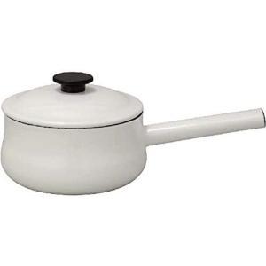 野田琺瑯 両手鍋 LUKE ルーク ソースパン 18cm ホワイト LK-18N|gbft-online
