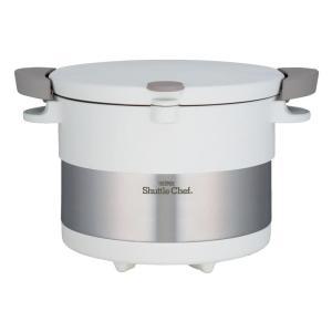 サーモス THERMOS 真空保温調理器 シャトルシェフ 3.0L ピュアホワイト KBC-3001 PWH|gbft-online