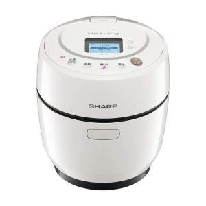 シャープ SHARP ヘルシオ ホットクック 1.0L 無水鍋 自動調理 無線LAN対応 ホワイト ...