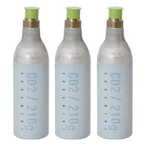 ソーダミニ Soda Mini ガスボンベ交換・回収キット ボンベ3本セット|gbft-online