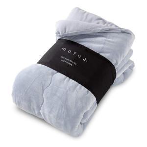 ナイスデイ モフア mofua うっとりなめらかパフ ふわ 毛布 シングル グレー 57920113