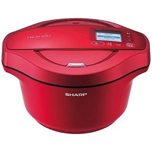 SHARP シャープ ヘルシオホットクック 水なし自動調理鍋 2.4L レッド系 KN-HW24C-...