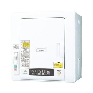 日立 6.0kg 衣類乾燥機 これっきりボタン DE-N60WV-W...