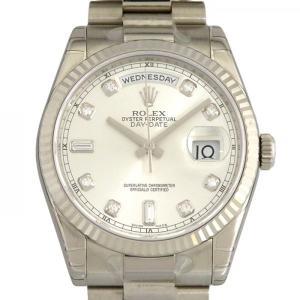 ロレックス ROLEX デイデイト 118239A シルバー文字盤 新品 腕時計 メンズ|gc-yukizaki