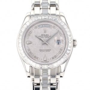 ロレックス ROLEX デイデイト 18956BRIL 2B シルバー文字盤 中古 腕時計 メンズ|gc-yukizaki