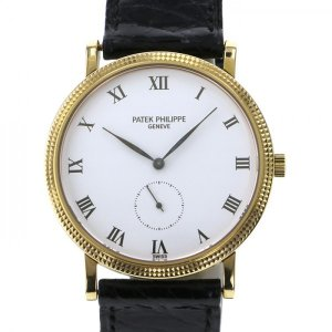 パテック フィリップ カラトラバ 3919J-001 ホワイト文字盤 メンズ 腕時計 中古...