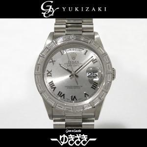ロレックス デイデイト 18366 グレーローマ文字盤 メンズ 腕時計 中古