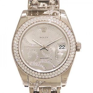 ロレックス ROLEX デイトジャスト ベゼルダイヤ 81339 シルバー文字盤 新品 腕時計 レディース|gc-yukizaki