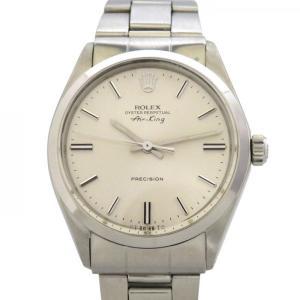 ロレックス エアキング 5500 シルバー文字盤 メンズ 腕時計 中古