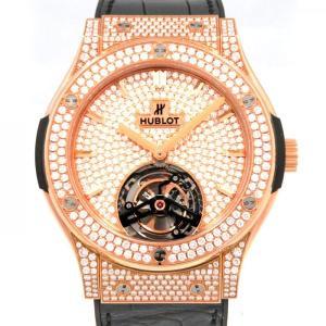 ウブロ クラシックフュージョン トゥールビヨン 505.OX.9010.LR.1704 全面ダイヤ文字盤 メンズ 腕時計 新品|gc-yukizaki
