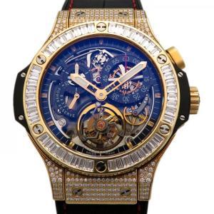 ウブロ ビッグバン トゥールビヨン ベゼルバケットダイヤ 308.PX.130.RX.094 ブラック文字盤 メンズ 腕時計 中古 gc-yukizaki