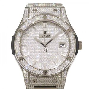 ウブロ クラシックフュージョン チタニウム ブレスレット フルパヴェ 511.NX.9010.NX.3704 全面ダイヤ文字盤 メンズ 腕時計 新品