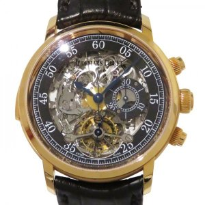 オーデマ・ピゲ ジュールオーデマ ミニッツリピーター トゥールビヨン クロノグラフ 26345OR.OO.D099CR.01 グレー文字盤 メンズ 腕時計 中古