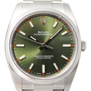 ロレックス オイスターパーペチュアル 34 114200 オリーブグリーン文字盤 メンズ 腕時計 新品|gc-yukizaki