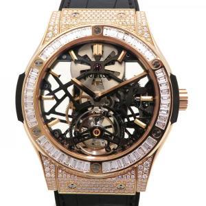 ウブロ クラシックフュージョン クラシコスケルトントゥールビヨン ダイヤモンド 505.OX.0180.LR.0904 グレー文字盤 メンズ 腕時計 新品|gc-yukizaki