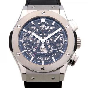 ウブロ クラシックフュージョン アエロフュージョン クロノグラフ チタニウム 525.NX.0170.LR グレー文字盤 メンズ 腕時計 新品|gc-yukizaki