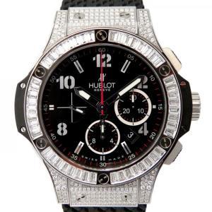 ウブロ ビッグバン スティール バケットダイヤモンド 301.SW.130.RX.094 ブラック文字盤 メンズ 腕時計 新品