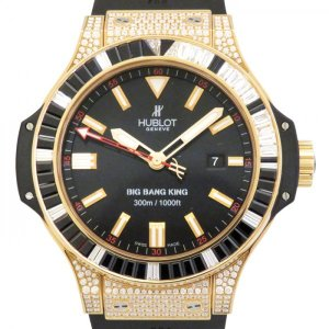 ウブロ ビッグバン キング サファイア ダイヤ 322.PX.1023.RX.0900 ブラック文字盤 メンズ 腕時計 新品|gc-yukizaki