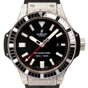 ウブロ ビッグバン キング サファイア ダイヤ 322.LX.1023.RX.0900 ブラック文字盤 メンズ 腕時計 新品|gc-yukizaki