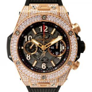 ウブロ ビッグバン ウニコ キングゴールド 411.OX.1180.RX.1704 スケルトン文字盤 メンズ 腕時計 新品