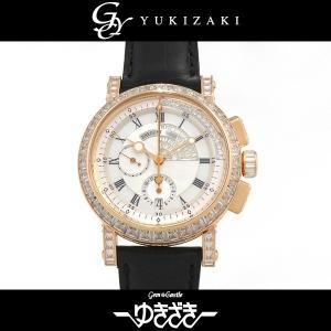 ブレゲ マリーンllクロノグラフ 5829BR/8D/9ZUDD0D ホワイト文字盤 メンズ 腕時計...