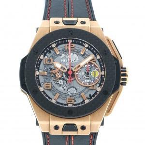 ウブロ ビッグバン フェラーリ キングゴールド 世界限定500本 401.OQ.0123.VR グレー文字盤 メンズ 腕時計 中古|gc-yukizaki