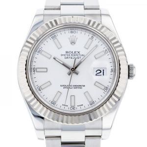 ロレックス ROLEX デイトジャスト II 116334 ホワイト文字盤 中古 腕時計 メンズ|gc-yukizaki