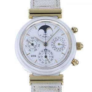 IWC ダ・ヴィンチ ダヴィンチ パーペチュアル クロノグラフ - ホワイト文字盤 メンズ 腕時計 ...