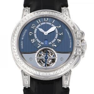 ハリー・ウィンストン オーシャン トゥールビヨン 世界限定10本 400/MAT44W ブルー文字盤 メンズ 腕時計 中古