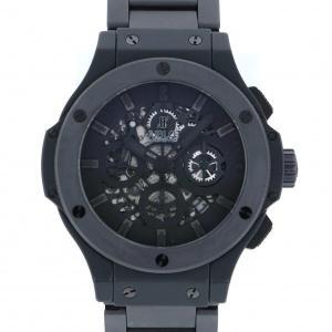 ウブロ ビッグバン アエロバン オールブラックII 世界限定500本 311.CI.1110.CI ブラック文字盤 メンズ 腕時計 中古|gc-yukizaki