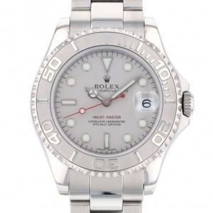 ロレックス ヨットマスター ロレジウム ボーイズ 168622 シルバー文字盤 メンズ 腕時計 中古|gc-yukizaki