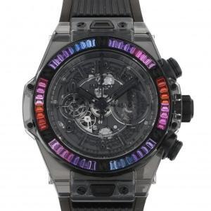 ウブロ ビッグバン ウニコ オールブラック サファイア ギャラクシー 411.JB.4901.RT.4098 ブラック文字盤 メンズ 腕時計 中古