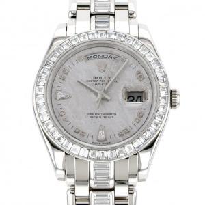 ロレックス デイデイト 18956BR シルバー文字盤 メンズ 腕時計 中古|gc-yukizaki