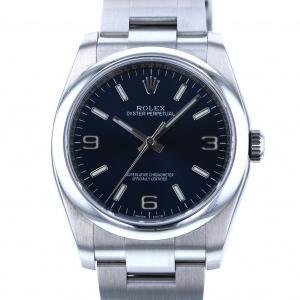 ロレックス オイスターパーペチュアル 116000 ブルー文字盤 メンズ 腕時計 中古|gc-yukizaki