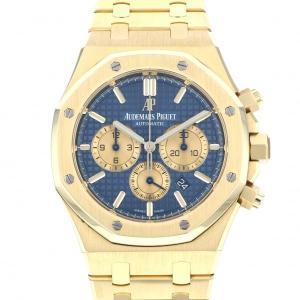 オーデマ・ピゲ ロイヤルオーク クロノグラフ 26331BA.OO.1220BA.01 ブルー文字盤 メンズ 腕時計 中古