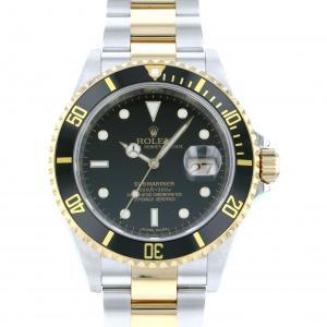 ロレックス サブマリーナ デイト 16613LN ブラック文字盤 メンズ 腕時計 中古|gc-yukizaki