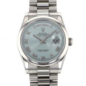 ロレックス デイデイト 118206 アイスブルーローマ文字盤 メンズ 腕時計 中古|gc-yukizaki