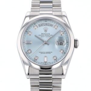 ロレックス デイデイト 118206A アイスブルー文字盤 メンズ 腕時計 中古|gc-yukizaki