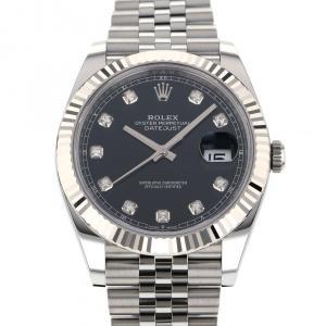 ロレックス デイトジャスト 41 126334G ブラック文字盤 メンズ 腕時計 新品|gc-yukizaki