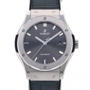 ウブロ クラシックフュージョン レーシング グレー チタニウム 542.NX.7071.LR グレー文字盤 メンズ 腕時計 中古|gc-yukizaki