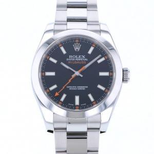 ロレックス ミルガウス 116400 ブラック文字盤 メンズ 腕時計 中古