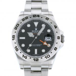 ロレックス ROLEX エクスプローラー II 216570 ブラック文字盤 中古 腕時計 メンズ|gc-yukizaki