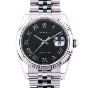 ロレックス ROLEX デイトジャスト 116234 ブラックローマ文字盤 中古 腕時計 メンズ|gc-yukizaki