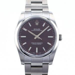 ロレックス ROLEX オイスターパーペチュアル 114200 レッドグレープ文字盤 新品 腕時計 メンズ|gc-yukizaki