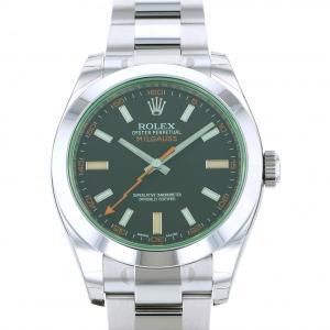ロレックス ミルガウス 116400GV ブラック文字盤 メンズ 腕時計 新品