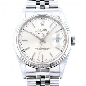 ロレックス ROLEX デイトジャスト 16234 シルバー文字盤 中古 腕時計 メンズ|gc-yukizaki