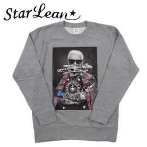 StarLean (スターリアン) CHA★NEL スウェット  グレー ユニセックス sldcw004   長袖 トレーナー|gcj-shop